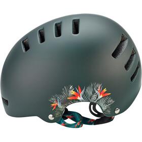 Lazer Armor Casque, matte green flowers